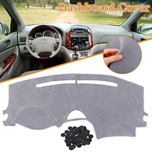Grey Left Hand Dash Cover Dashboard Cover Mat Carpet Dashmat For Toyota Sienna 2004-2007 Dash Board Cover Pad Sun Shade - Dash Charger Cover Carpet New