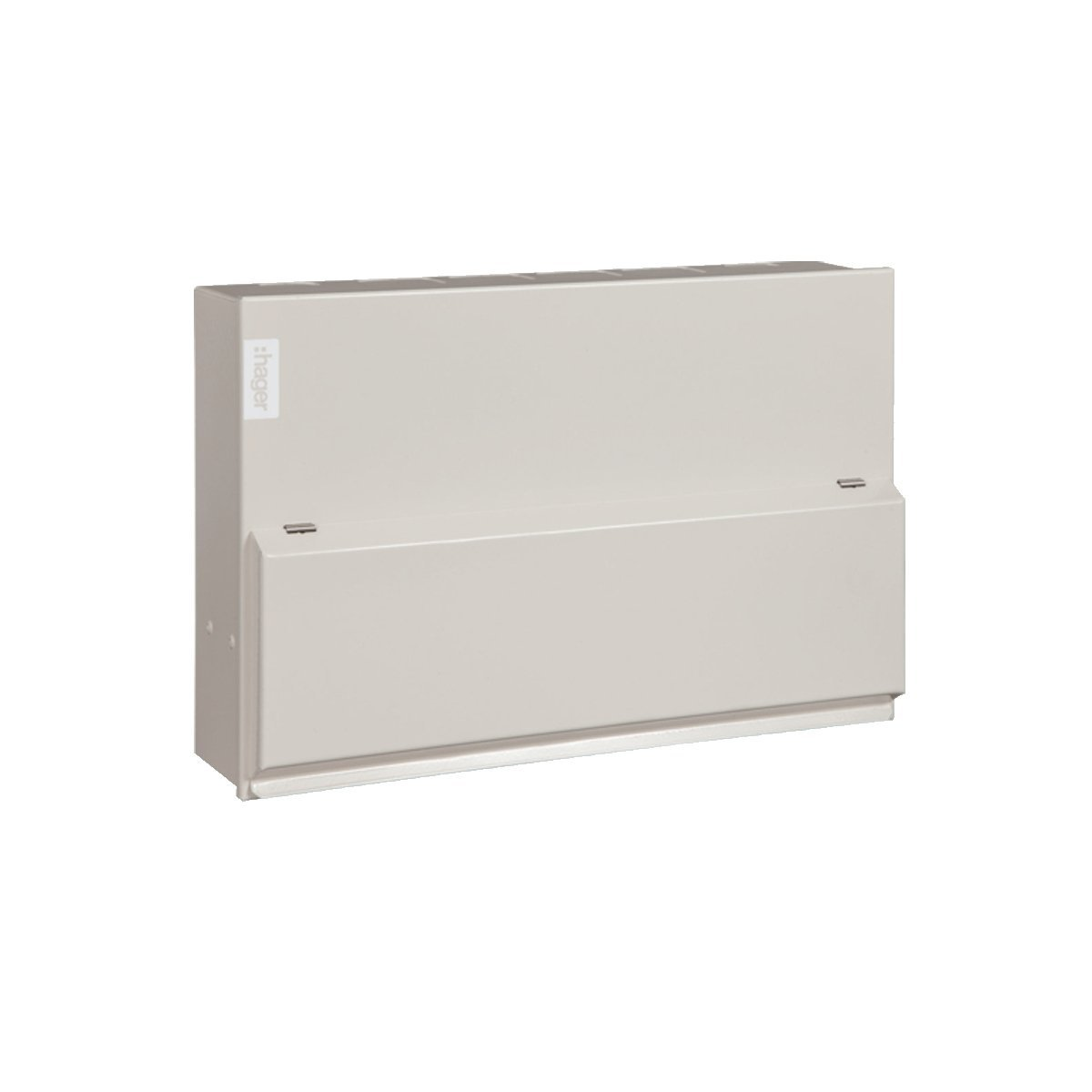 Hager VML410H - 10 Way 63A 30mA RCCB Incomer Metal Consumer Unit