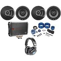"(4) Polk Audio MM652 6.5"" 1200w Car Audio Speakers+Amplifier+Wires+Headphones"