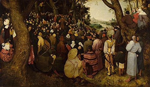 Elder Pieter Peasant Dance (Pieter Bruegel the Elder Giclee Canvas Print Paintings Poster Reproduction(The Sermon of Saint John the Baptist))