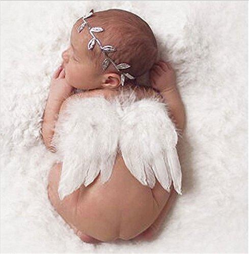 Excellent.Advanced® Kind Foto Set Neugeborenen Fotos Engel Feder Set Angel Wings Foto Prop Flügel Bekleidungszubehör