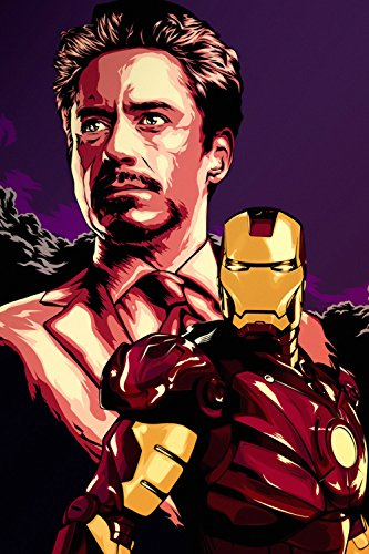 Iron Man Tony Stark Movie Fan Art Poster 24x36
