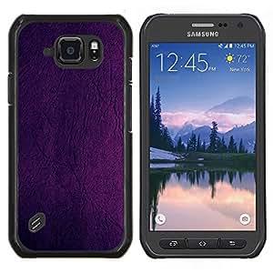 EJOOY---Cubierta de la caja de protección para la piel dura ** Samsung Galaxy S6Active Active G890A ** --Pintura púrpura Diseño del papel pintado de pared en color