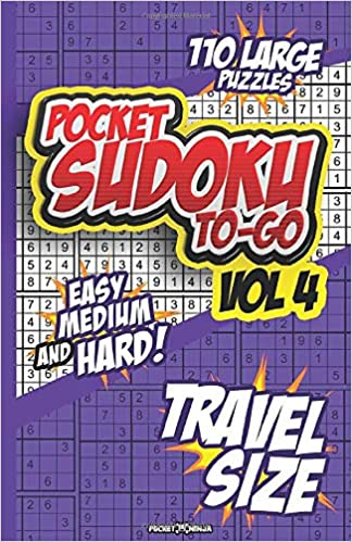POCKET SUDOKU TO-GO: TRAVEL SIZE BRAIN WORKOUT - Math Puzzle ...
