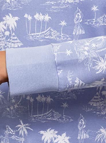 Básico Estampado Suéter Oodji Mujer 7010g Ultra Azul qagxRO