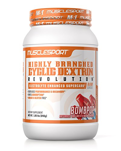 Musclesport Highly Branch Cyclic Dextrin (BOMBPOP), Electrolyte Enhanced Super Carb, Performance & Recovery, Rapid Gastric Absorption, Muscle Pumps, Hydration, Sugar & Gluten Free