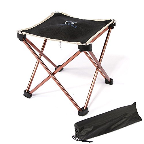 Portable Ultralight Folding Square Stool, TAOGE Aluminum Alloy Super Strong Foldable Stool Chair for Outdoor Camping Fishing Picnic Travel Hiking with Carry Bag (Picnic Stool)