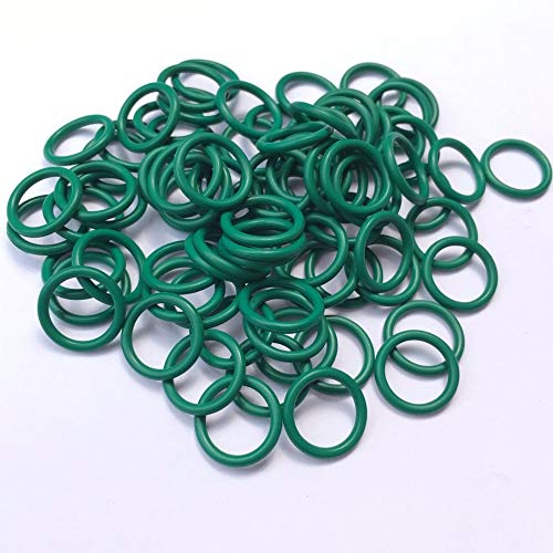 Gimax 20PCS Green Viton O Ring Seals FKM Gaskets CS 2.5mm OD18 19 20 21 22 23 24 25 26 27mm Mechanical Fluorine Rubber O Ring - (Inner Diameter: 25x20x2.5mm)