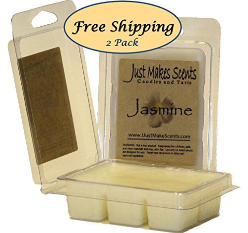 2 Pack - Jasmine Scented Soy Wax Melts by Just Makes Scents