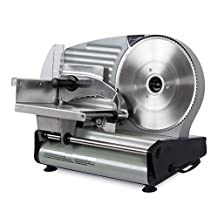 "Della 8.7"" Commercial Electric Meat Slicer Blade Deli Cutter Veggies Kitchen CE, Silver"