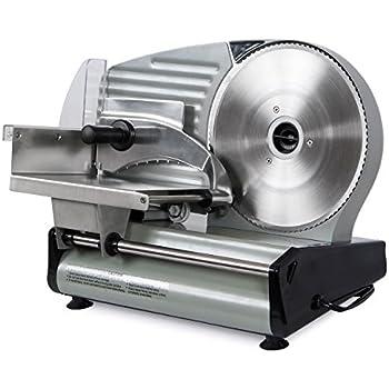 "Della 8.7"" Commercial Electric Meat Slicer Blade Deli Cutter Veggies Kitchen CE, Silver"