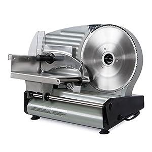 Della 8.7″ Commercial Electric Meat Slicer Blade Deli Cutter Veggies Kitchen CE, Silver : Excelente relación de precio y calidad.
