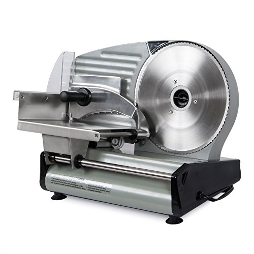 Della 8.7' Commercial Electric Meat Slicer Blade Deli Cutter Veggies Kitchen CE, Silver