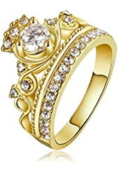Amazon.com: 925 Sterling Silver Princess Crown Ring: Jewelry