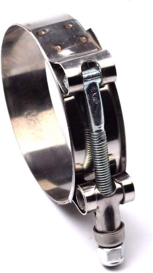 32mm-37mm Stainless Steel T-Bolt Silicone Hose Clamps Turbo Pipe Intercooler Clamp 10PCS 1 1.26-1.46