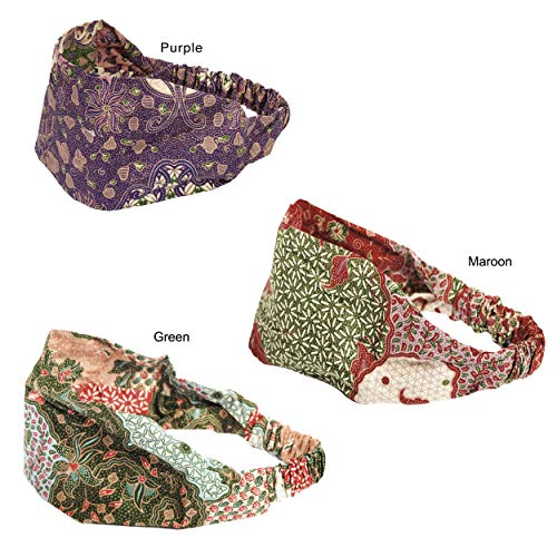 (Cotton Pack of 3 Indonesian Batik headband)