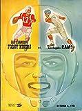 San Francisco 49ers vs Los Angeles Rams Football Program (October 8, 1961) ** Kezar Stadium San Francisco**