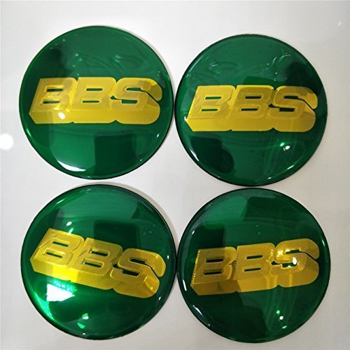 kil1 4PCS Wheel Center Hub Caps Emblem Badge Decal Stickers for BBS Green Gold 70mm
