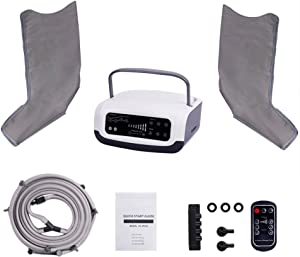 Sequential Compression Device, Leg Pump Machine for Lymphedema, Circulation & Swelling - Intermittent Pneumatic SCD Air Therapy Recovery with Full Massage Boots(Size: Medium)