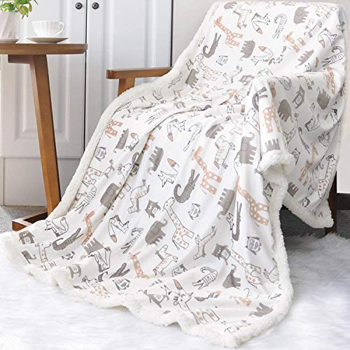 BORITAR Sherpa Throw Blanket