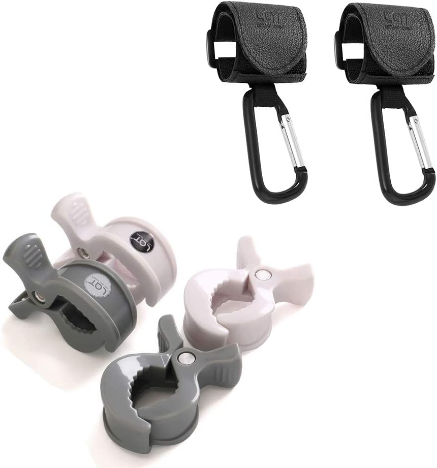 Covers LAT Baby Stroller Hooks ,Buggy Clips Pegs Set to Fixed Baby Muslin Blankets Nursing Towel and Toys on Pushchair or Stroller 4 Packs