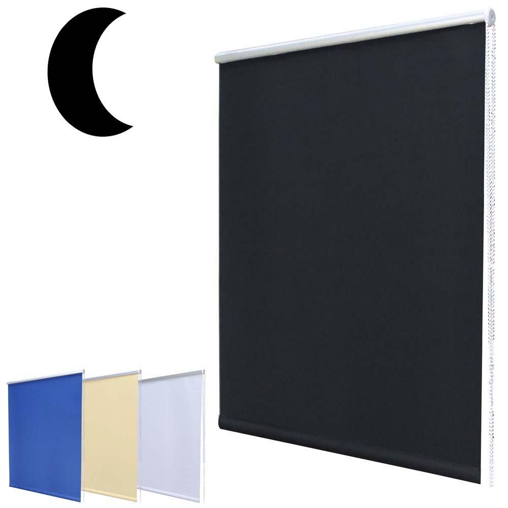 Mini store de fenêtre occultant avec système Klemmfix sans vis comprenant un support de serrage / Bleu 40 x 160 cm (largeur x hauteur) Hossi' s Wholesale