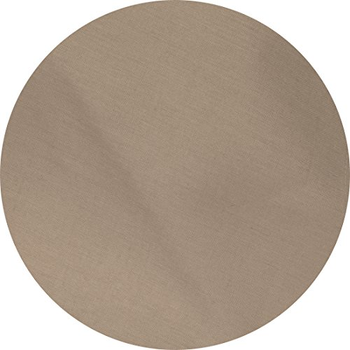 Huddleson Coffee Brown Pure Linen Tablecloth, 90