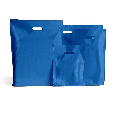 100 bolsas de plástico color azul real, de 23 cm x 30.4 cm ...