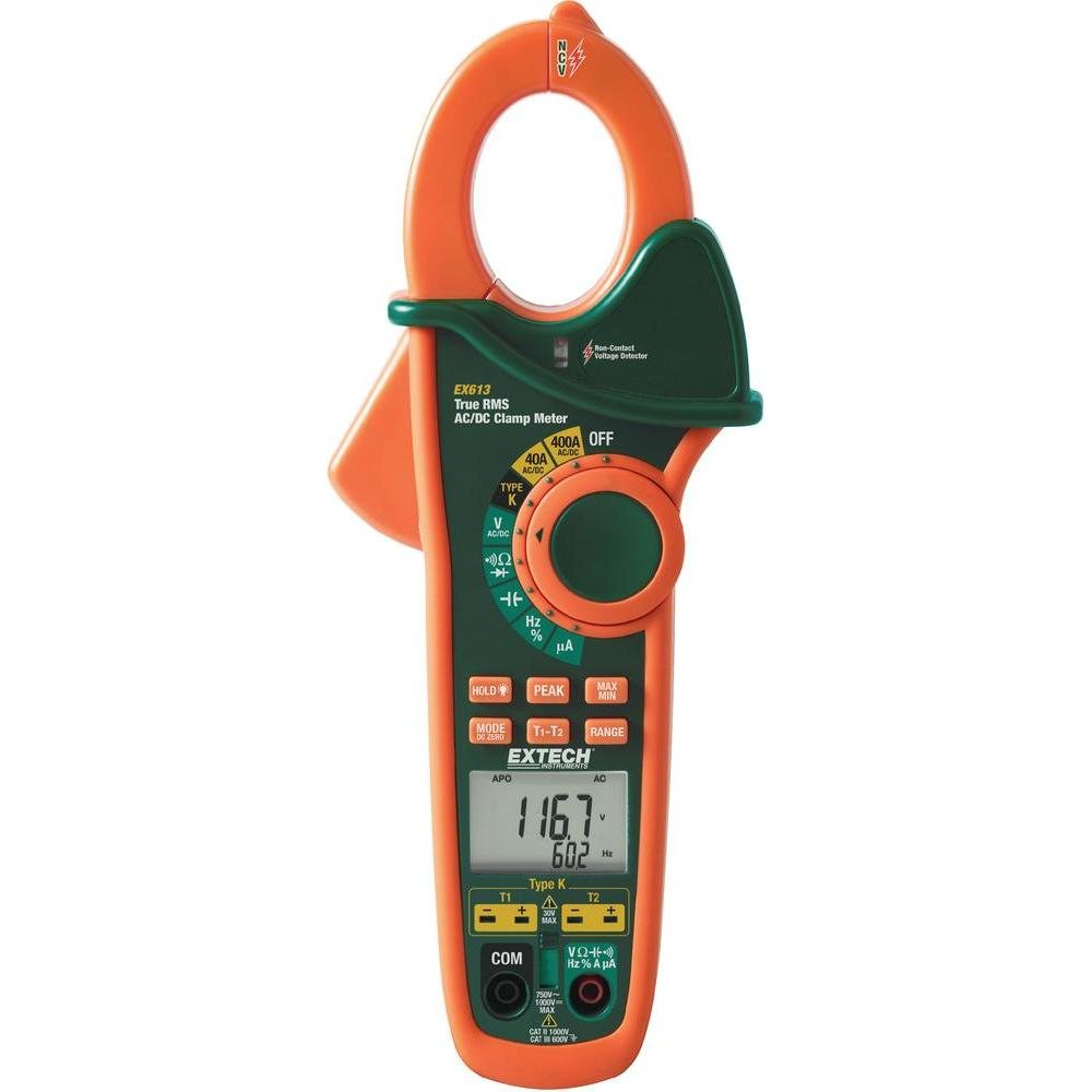 EXTECH EX613 Stromzange, Hand-Multimeter digital CAT III 600V Anzeige (Counts): 40000