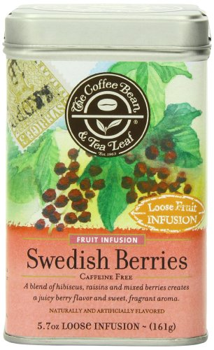 The Coffee Bean & Tea Leaf Swedish Berries, Hibiscus Raisins and Berries, Easily Caffeine-Free, 5.7-Ounce Loose Tea