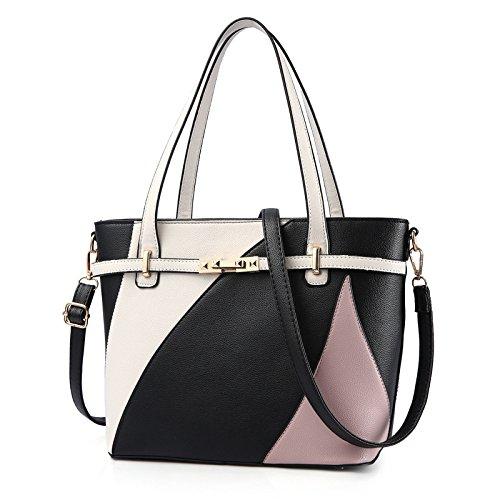 European Shoulder rosado Fashion American Messenger Kamierfas Handbag Large Bag 2018 Capacity Negro hlh And Female Bag Big 6nFWTA