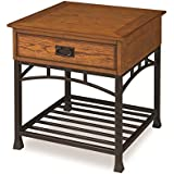 Home Styles 5050-20 Modern Craftsman End Table, Distressed Oak Finish
