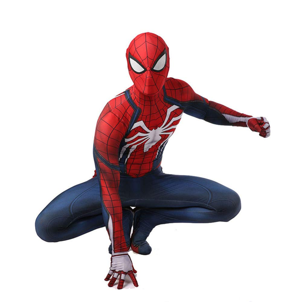 Redbluee Medium QXMEI SpiderMan Cosplay Halloween Roleplaying Costume,RedblueeM