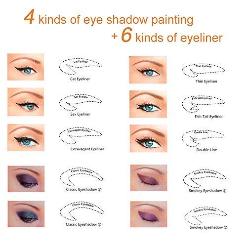 letgoshop 64 pair eyeshadow and eyeliner stencil model non woven eyeliner makeup template. Black Bedroom Furniture Sets. Home Design Ideas