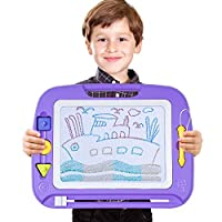 SGILE Magnetic Drawing Board Toy, Magna Doodles Sketch Erasable Pad for Writing Kids Toddler Boy Girl Painting Learning Birthday Gift Present