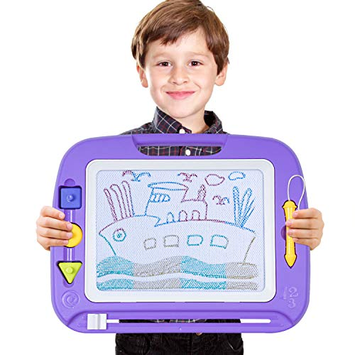 "TONOR Magnetic Drawing Board Toy, 13X17"" Magna Doodles Sketch Erasable Pad for Writing Kids Toddler Boy Girl Painting Learning Birthday Gift Present, Extra ()"
