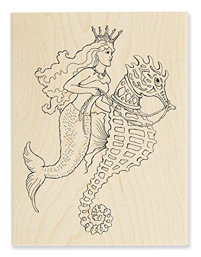 Stampendous Wood Stamp, Seahorse Ride