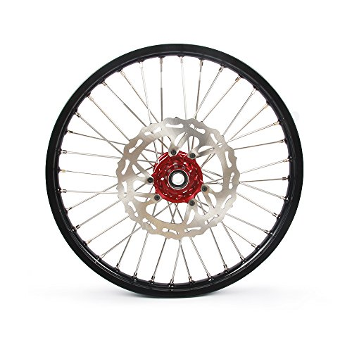 1.6x21'' 2.15x19'' Wheels Rims & Hubs & Spokes & Front Rear Brake Disc & Sprocket & Spacer Raiser - Honda CRF250R 15-17 CRF450R 15-17 by Unknown (Image #1)