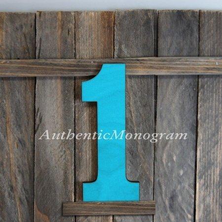 UPC 746550038253, G.DeBrekht Artistic Studios 91511P-24 No. 1 Painted Wooden Monogram