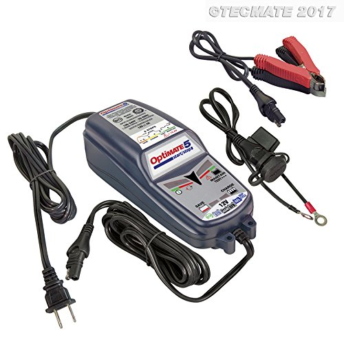 Tecmate OptiMATE 5 start/stop, TM-221-4A, 6-step 12V 4A battery saving charger-tester-maintainer