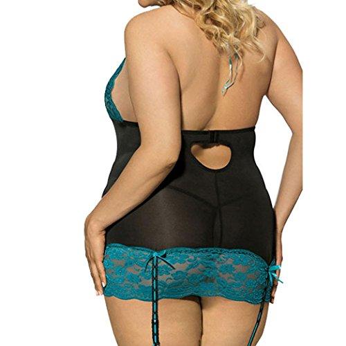 a2d88cce200f9 ManxiVoo Fashion Women Sexy Lace Underwear Plus Size Uniforms Bandage  Halter Top Temptation Lingerie