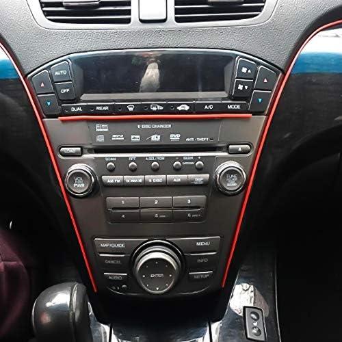 SENZEAL Auto Formungs Streifen 5M Flexible Ordnung f/ür DIY Automobil Auto Innenau/ßenseiten Formteil Ordnungs dekorative Linie Streifen Silber