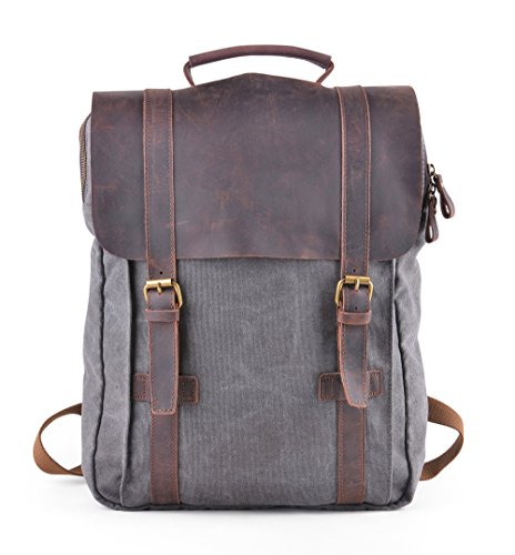 """Gootium 30520GRY Canvas Backpack For 15.6"""" Laptop With Genui"""