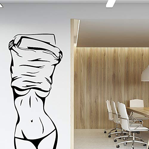 Sexy Girl Vinyl Wall Sticker Wall Decor Fof Clothes Store Beauty Salon for Bedroom Room Decoration Wall Decals Sticker Mural c2 58x124cm]()