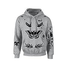 Allntrends Adult Hoodie Sweatshirt Harry Styles Tattoo 1D Shirt