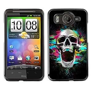 TECHCASE**Cubierta de la caja de protección la piel dura para el ** HTC G10 ** Skull Neon Scream Teeth Skeleton Colorful