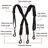 Men Paddded Adjustable Tool Belt Suspender Duty
