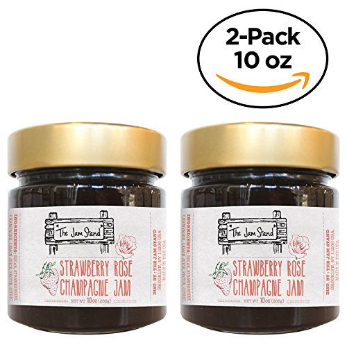 Rose Preserve - Strawberry Rose Champagne Jam, Gourmet Jelly 10 oz. by The Jam Stand (10 oz. (Pack of 2))