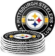 NFL Eight Pack Stripe Coasters (Pittsburgh Steelers)