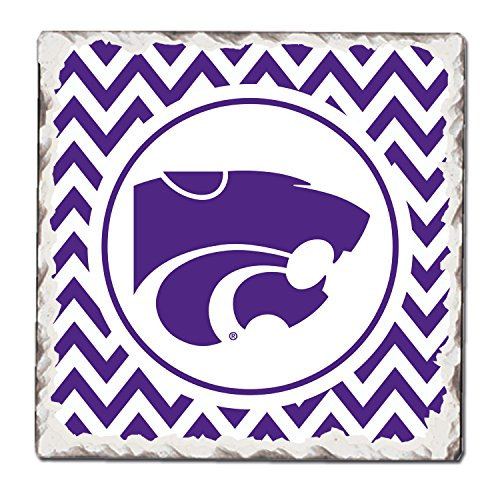 - CounterArt Set of 4 Absorbent Tumbled Tile Coasters, Kansas State Wildcats